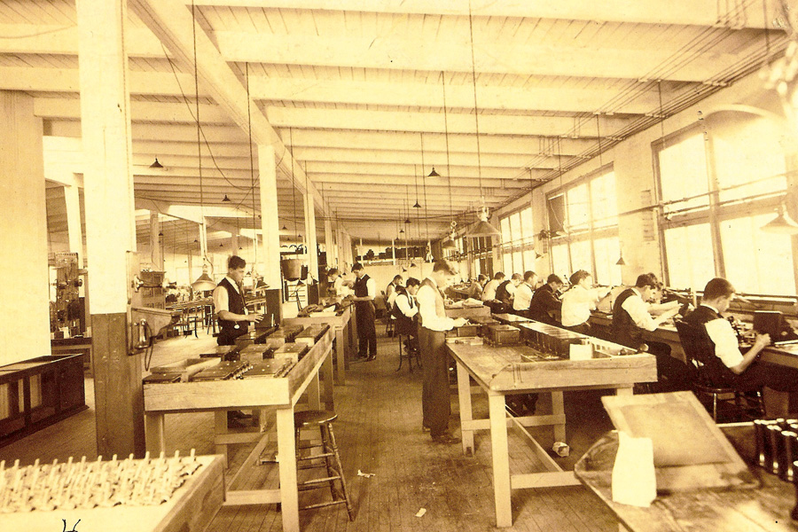 W. B. Marvin MFG Co. workers assembling window screens
