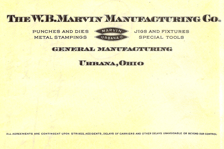 W. B. Marvin MFG Co. was founded in the USA